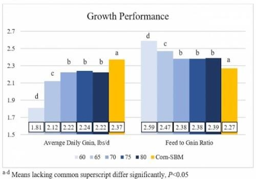Growing pig valine study performance results