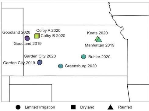 Figure 2. Field study locations.