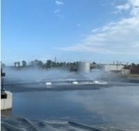 sweet potato processing facility receives the hot water and steam produced to be used