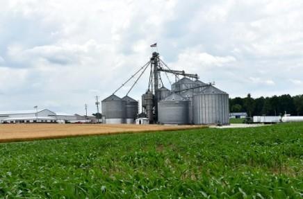 Bins at Bivens' Fresh Start Farms in Hodgenville