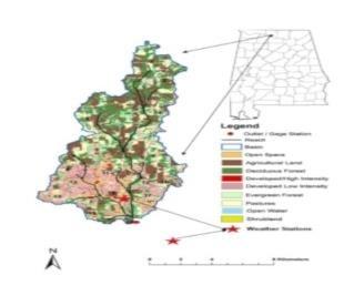 Figure 1. Swan Creek watershed in northwest Alabama