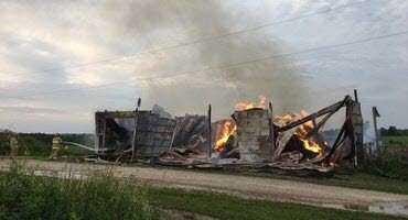 Investigators respond to three Wellington County barn fires Thursday morning