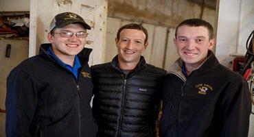 Facebook co-founder tours Missouri egg farm