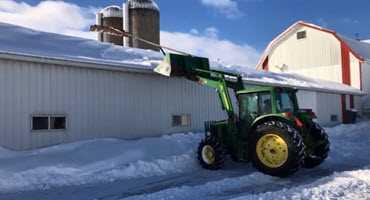 Farmer invents unique snow removal tool