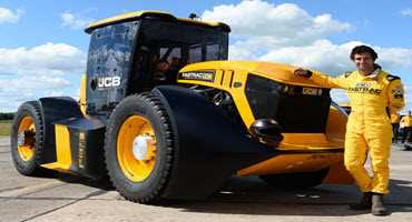 JCB tractor sets speed record