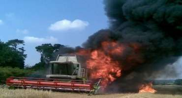 Be Prepared for Combine Fires during Harvest Season
