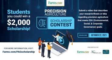 Precision Agriculture Scholarship Contest Deadline Extended