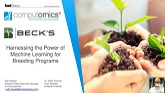 Harnessing the Power of Machine Learning for a Breeding Program: A Seed World Innovation Webinar