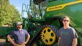 John Deere X9 in Early Corn in Ontario