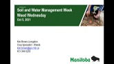 Soil and Water Management Week