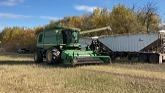 Combining canola, harvest 2021. Nort...