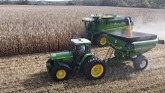 Corn harvest begins, beans are too wet