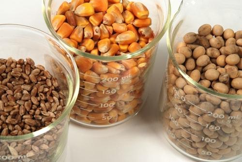 Corn, soybean and wheat