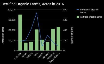 Field of organic vegetables