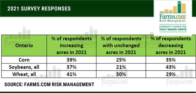 2021 Survey Responses Chart