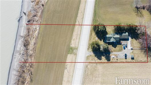 4.5 acres lakefront in Chatham/Kent for Sale, Merlin, Ontario