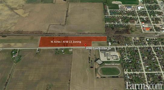 16 Acre Vacant residential/Commercial/Industrial land for Sale, Glencoe, Ontario