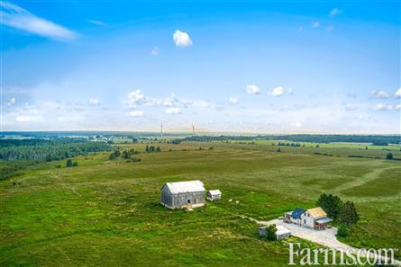 148 Acre Farm with Log Home for Sale, Manitoulin Island, Ontario