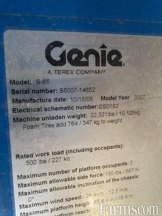 2007 Genie S65