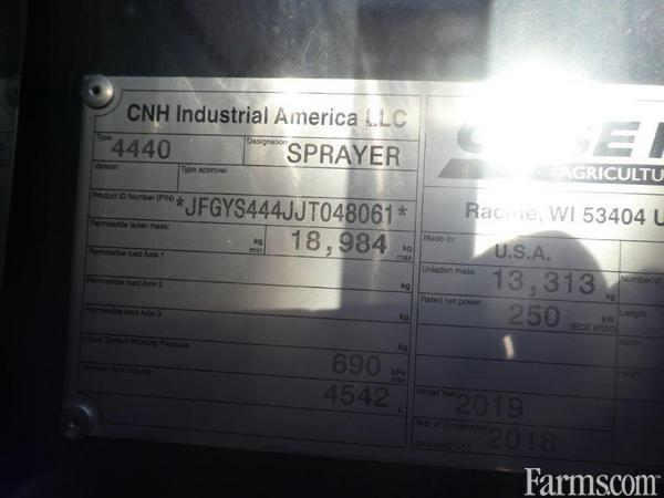 2019 Case IH 4440-120 Sprayer - Pull Type