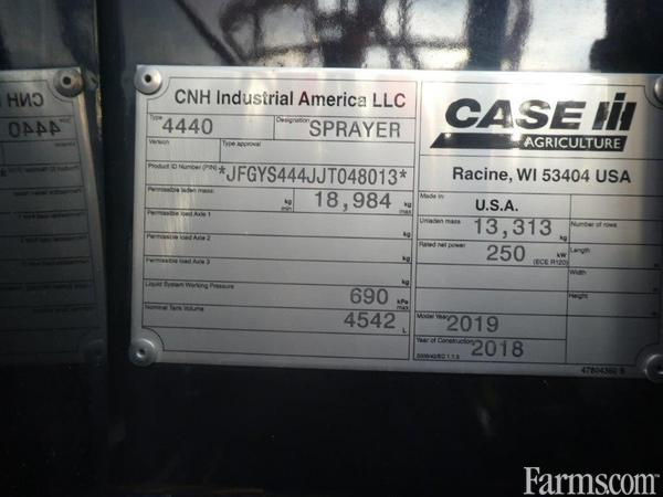 2019 Case IH 4440-120 Sprayer - Pull Type