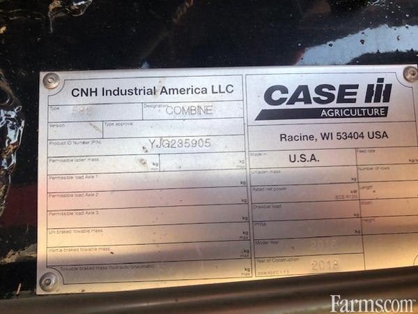 2018 Case IH 8240 Combine