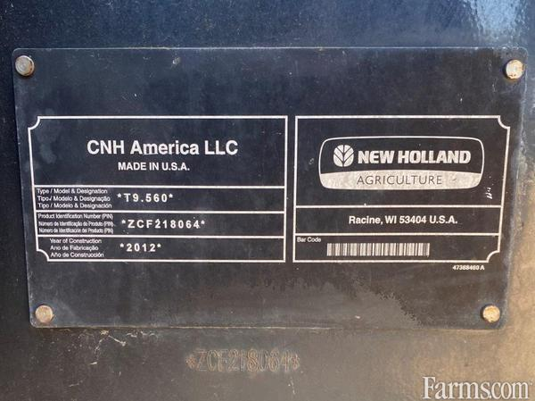 2013 New Holland T9.560 4WD Tractor