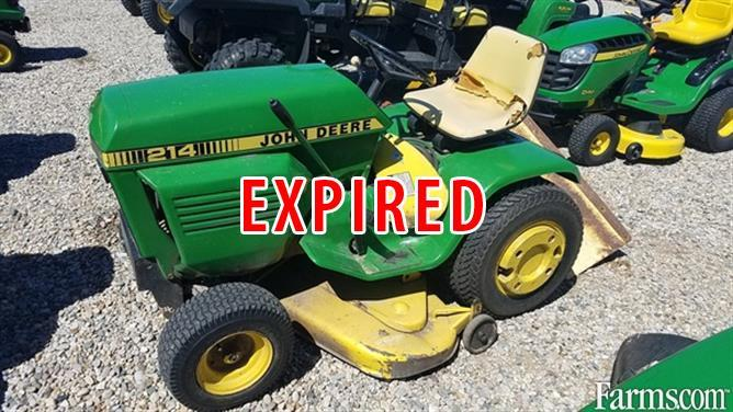 John Deere 214 >> John Deere 214 Riding Lawn Mowers For Sale Usfarmer Com
