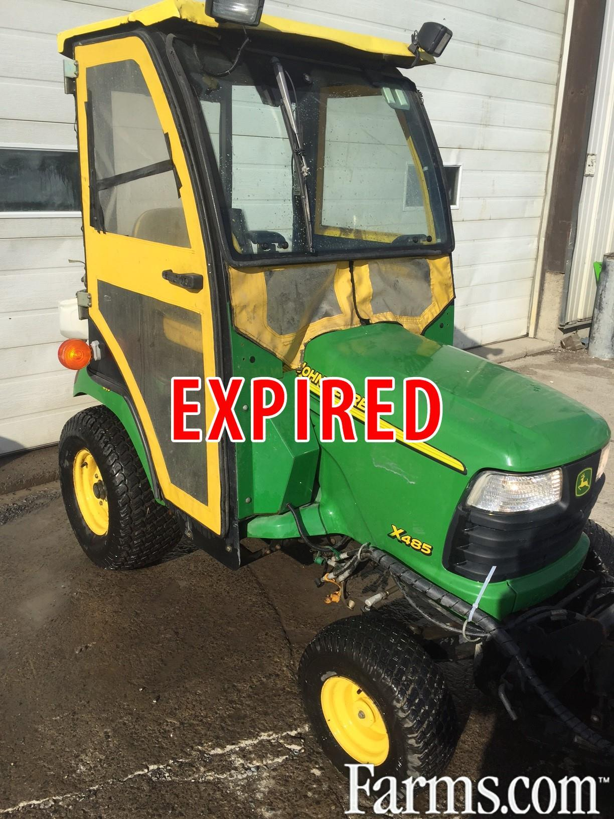 John deere x485 for sale for Used lawn and garden equipment