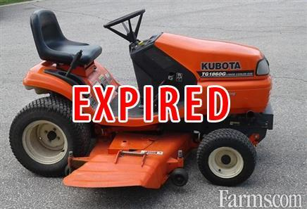 Used Kubota T1860g Lawn Tractor For Sale Farms Com