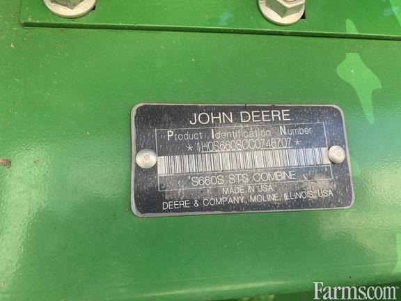 John Deere 2012 S660 Combines