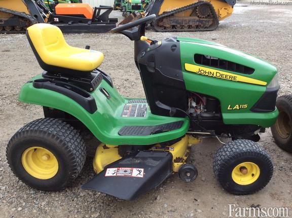 2009 John Deere La115 Riding Lawn Mower For Sale Farms Com