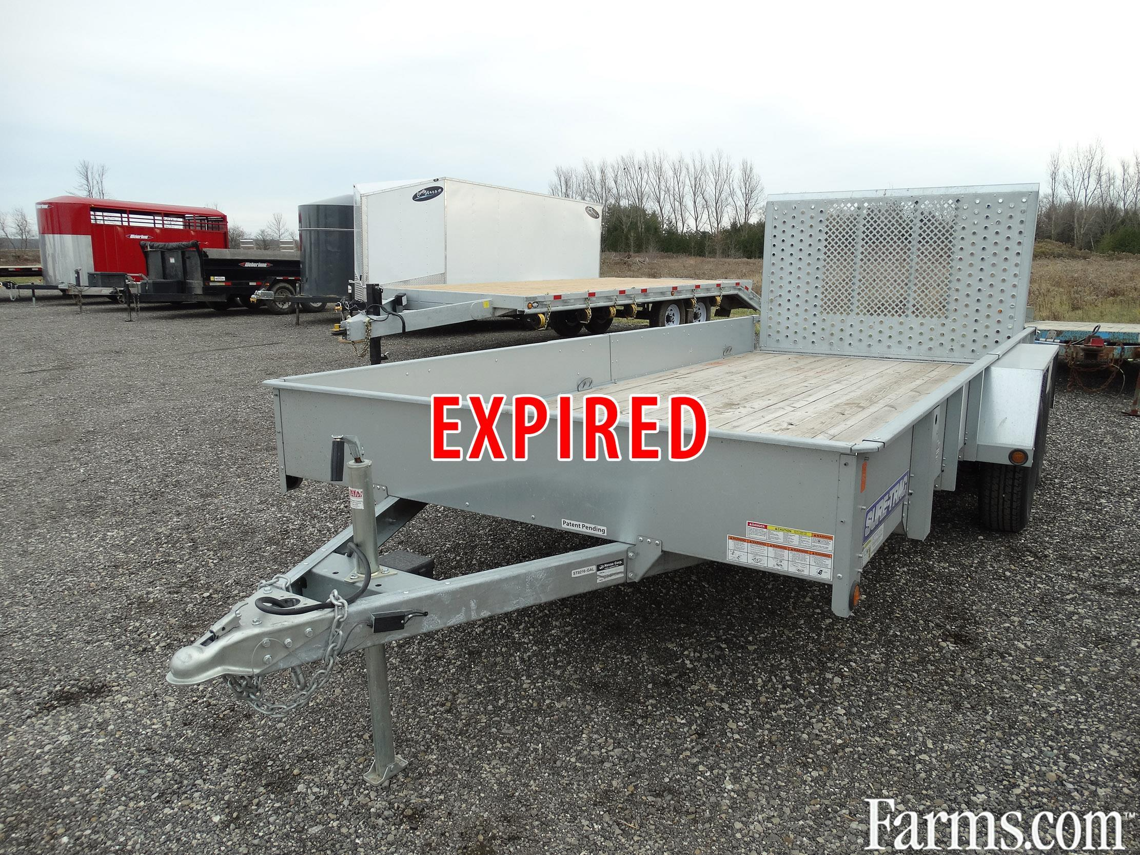 Used Tractor Trailers : Galvanized landscape trailer for sale farms