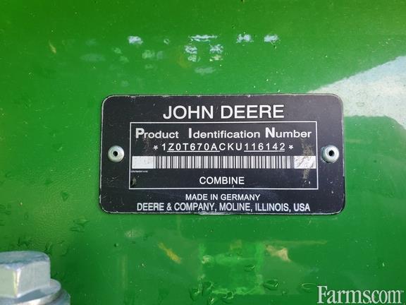 2019 John Deere T670